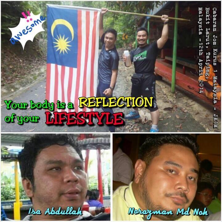 Amalan gaya hidup sihat bersama Ketua Pasukan JK1M Kuala Kangsar, Ustaz Norazman Md Noh, Personal Wellness Coach.
