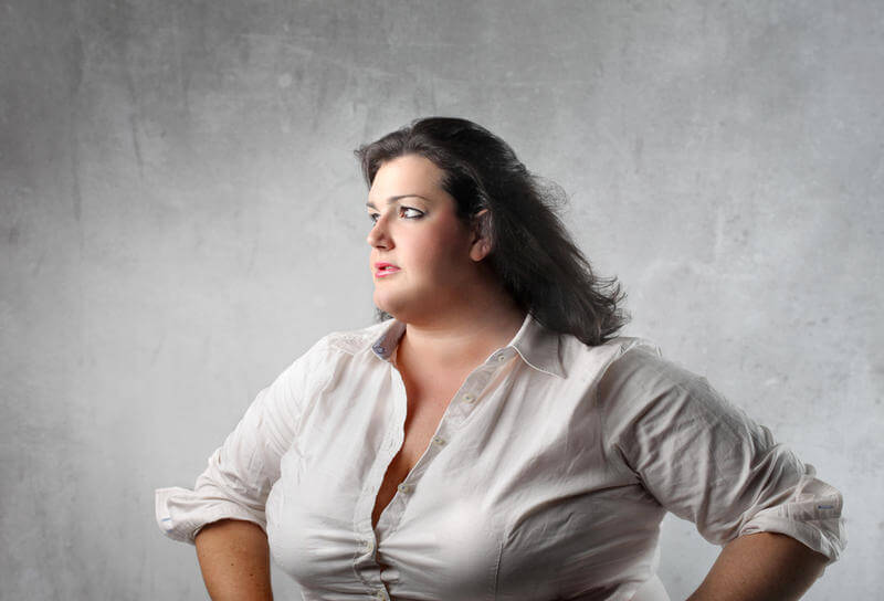Sad fat women